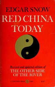 Cover of: Red China today
