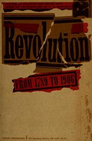 Cover of: Revolution from 1789 to 1906 | Raymond Postgate