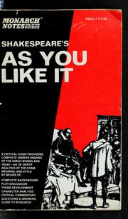 Cover of: Shakespeare's As you like it