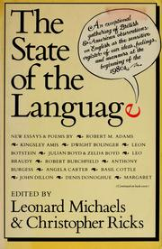 Cover of: The state of language