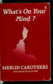 Cover of: What's on your mind?