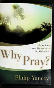 Cover of: Why pray?