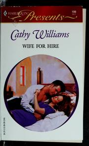 Cover of: Wife for hire | Cathy Williams