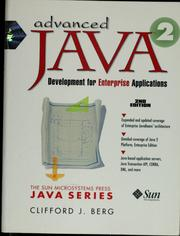 Cover of: Advanced Java development for enterprise applications | Clifford J. Berg