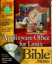 Cover of: ApplixWare Office for Linux bible | Heather Williamson