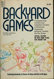 Cover of: Backyard games