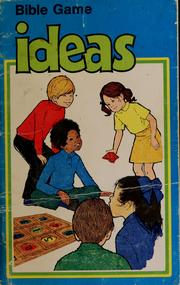 Cover of: Bible games ideas | Shirley Beegle