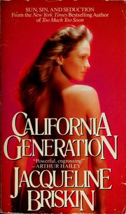 Cover of: California generation