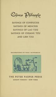 Cover of: Chinese philosophy | Giles, Lionel