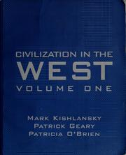 Cover of: Civilization in the West, volume one