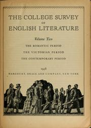 Cover of: The college survey of English literature | Alexander M. Witherspoon