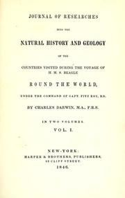 Cover of: Journal of researches into the geology and natural history of the various countries visited by H.M.S. Beagle by Charles Darwin