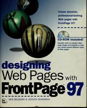 Cover of: Designing Web pages with FrontPage 97