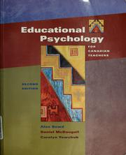 Cover of: Educational psychology for Canadian teachers | Alan Bowd