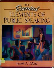 Cover of: The Essential Elements of Public Speaking