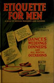 Cover of: Etiquette for men