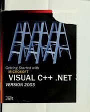 Cover of: Getting started with Microsoft Visual C++ .NET step by step