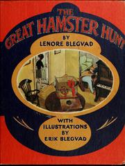 Cover of: The great hamster hunt | Lenore Blegvad