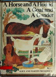 Cover of: A horse and a hound, a goat and a gander