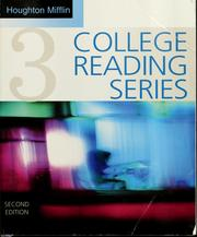 Cover of: Houghton Mifflin college reading series