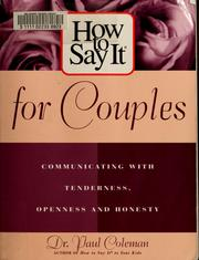 Cover of: How to say it for couples