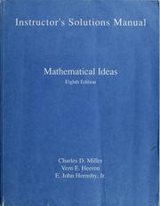 Cover of: Instructor's solutions manual