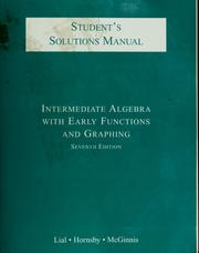 Cover of: Intermediate algebra with early functions and graphing. Student's solutions manual