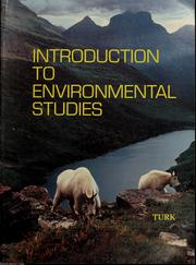 Introduction to environmental studies by Jonathan Turk