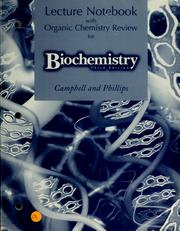 Cover of: Lecture notebook for biochemistry