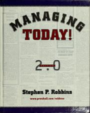 Cover of: Managing today! Edition 2.0