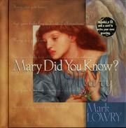 Cover of: Mary did you know?