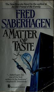 Cover of: A matter of taste