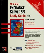 Cover of: MCSE Exchange 5 server 5.5 study guide