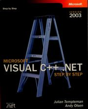 Cover of: Microsoft Visual C++ .NET step by step : version 2003