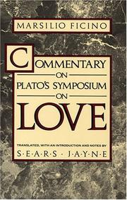 Cover of: Commentary on Plato's Symposium on Love