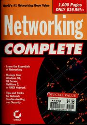 Cover of: Networking complete