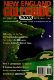 Cover of: New England Golf Guide 2008