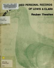 Cover of: Newly discovered personal records of Lewis & Clark