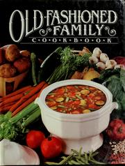 Old-fashioned family cookbook