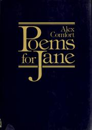 Cover of: Poems for Jane | Alex Comfort