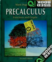 Cover of: Precalculus | Mark Dugopolski