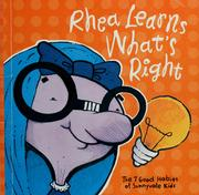 Cover of: Rhea learns what's right | Stephen R. Covey