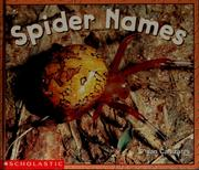 Cover of: Spider names