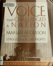 Cover of: The voice that challenged a nation