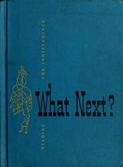 Cover of: What next ?