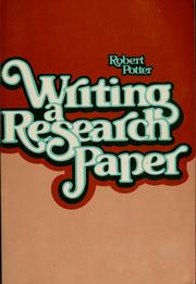 Cover of: Writing a research paper