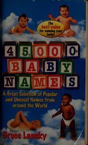 Cover of: 45,000+ baby names
