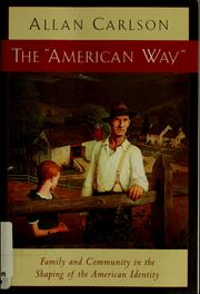 "Cover of: The ""American way"""