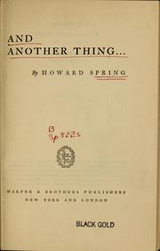 Cover of: And another thing