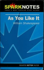 Cover of: As you like it, William Shakespeare